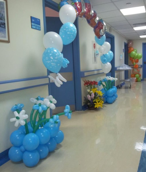 Blue Bow Balloons